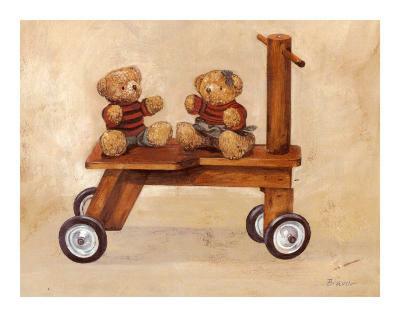 Two Teddy Bears-Bravo-Art Print