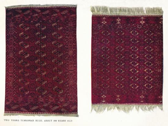 Two Tekke Turkoman rugs, c1800-Unknown-Giclee Print