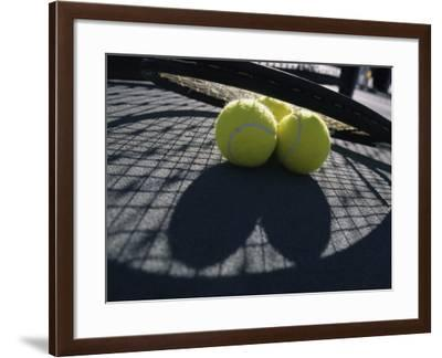 Two Tennis Balls--Framed Photographic Print