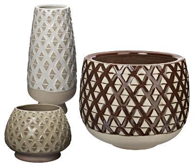 Two Tone Lattice Pots--Home Accessories