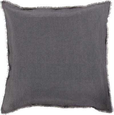 Two Tone Poly Fill Pillow - Grey/Black