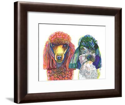 Two Toy Poodles-Solveig Studio-Framed Art Print