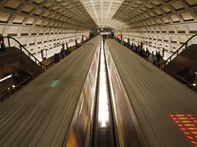 Two Trains Passing in the Dupont Circle Metro Station-Rich Reid-Photographic Print