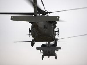 Two UH-60 Black Hawks Underway on a Mission over Northern Iraq