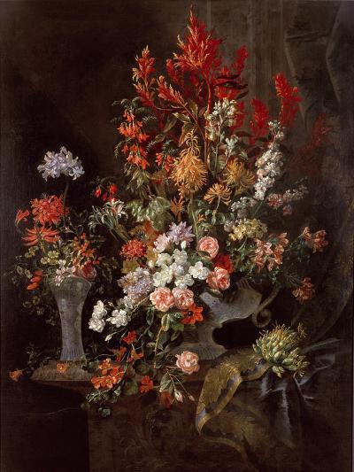 Two Vases of Flowers-Jean-Baptiste Monnoyer-Giclee Print