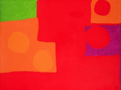 Two Vermillions, Green and Purple in Red: March 1965-Patrick Heron-Giclee Print