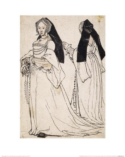 Two Views of a Woman Wearing an English Hood-Hans Holbein the Younger-Giclee Print
