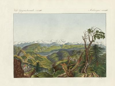 Two Views of the Himalayas--Giclee Print