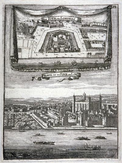 Two Views of the Tower of London with Boats on the River Thames, C1790--Giclee Print