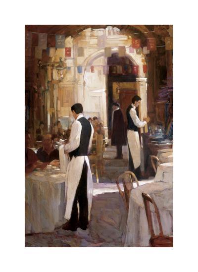 Two Waiters, Place des Vosges-Philip Craig-Giclee Print