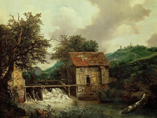 Two Watermills, 1650-1652-Jacob Ruysdael-Giclee Print
