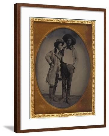 Two Western Pals--Framed Art Print