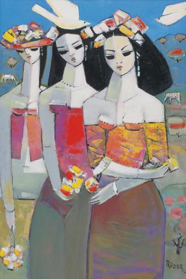 Two White Birds-Endre Roder-Giclee Print