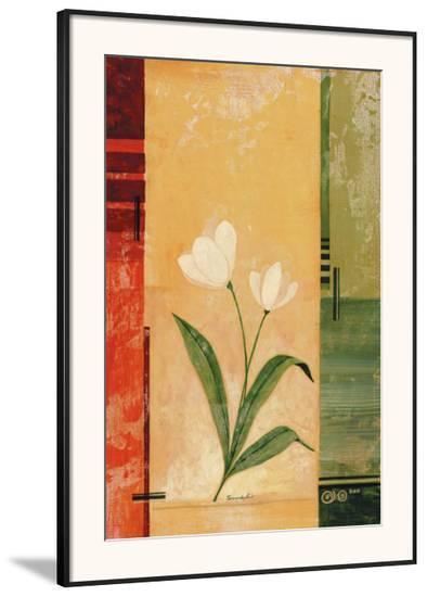 Two White Tulips-Fernando Leal-Framed Art Print