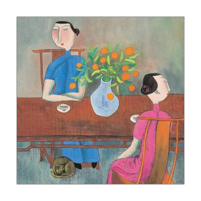Two Women at Table--Giclee Print