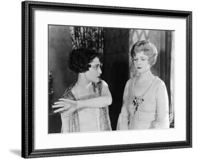 Two Women Having Argument--Framed Photo