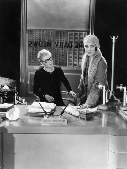 Two Women in an Office--Photo