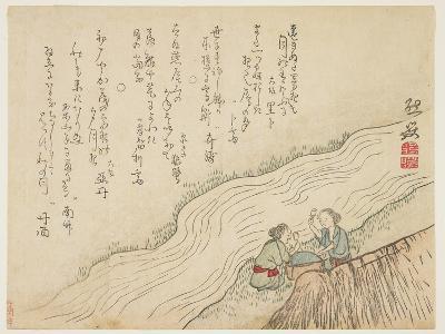 Two Women Pounding Silk, C.1854-59- Zengaku-Giclee Print