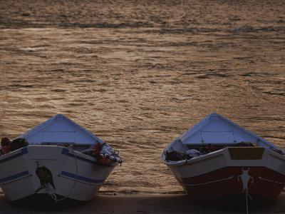 Two Wooden Dories on the Shore of the Colorado River-Dugald Bremner-Photographic Print