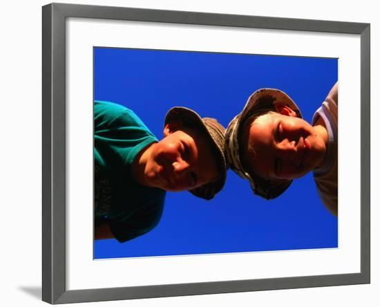 Two Young Boys from Skane, Skane, Sweden-Anders Blomqvist-Framed Photographic Print