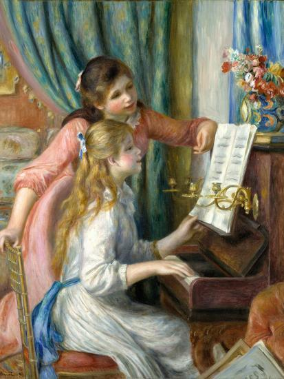 Two Young Girls at the Piano, 1892-Pierre-Auguste Renoir-Premium Giclee Print