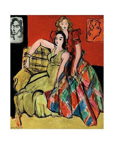 Two Young Women, the Yellow Dress and the Scottish Dress, c.1941-Henri Matisse-Art Print