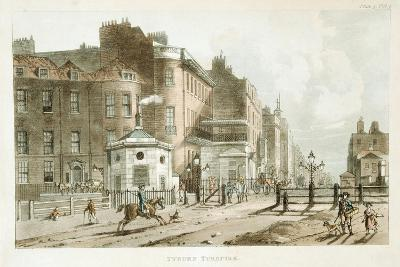 Tyburn Turnpike, Paddington, London, 1813--Giclee Print
