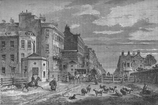 Tyburn Turnpike, Westminster, London, 1820 (1878)-Unknown-Giclee Print