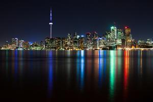 Toronto Skyline at Night by Tyler Hayward