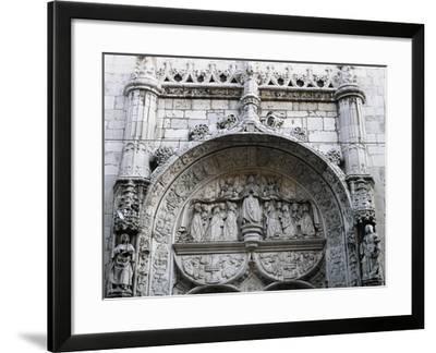 Tympanum of Church of Nossa Senhora Da Conceicao Velha, Lisbon, Portugal--Framed Giclee Print