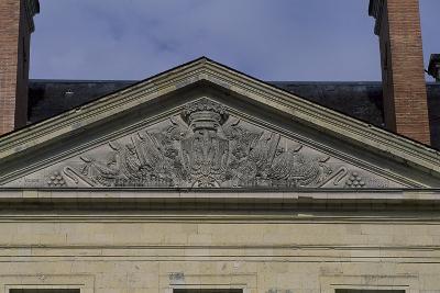 Tympanum of Facade of Chateau De Montgeoffroy, 1772-1776-Jean Benoit Vincent Barre-Giclee Print