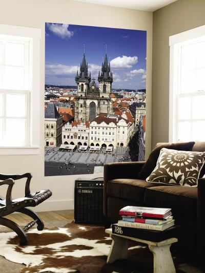 Tyn Church from Old Town Hall Tower-Christopher Groenhout-Wall Mural