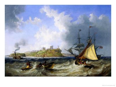 Tynemouth Haven, with Shipping in the Harbor-John Wilson Carmichael-Giclee Print