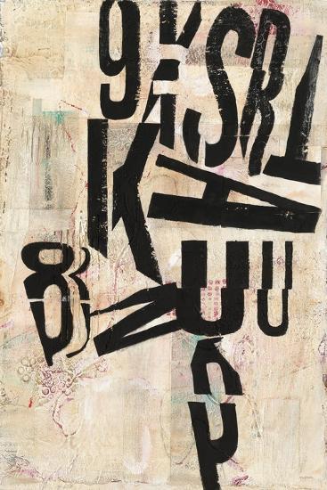 Type Abstraction I-Mary Urban-Art Print