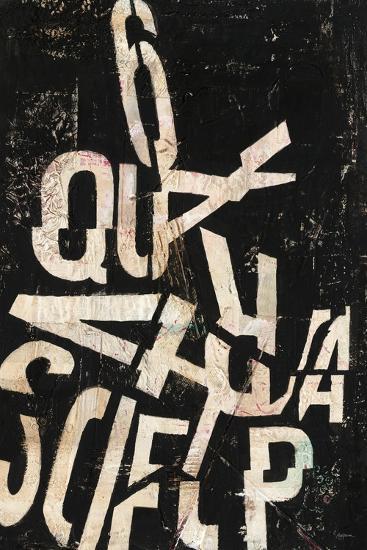Type Abstraction II-Mary Urban-Art Print