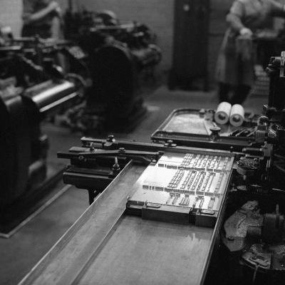 Type Being Set at the White Rose Press, Mexborough, South Yorkshire, 1968-Michael Walters-Photographic Print