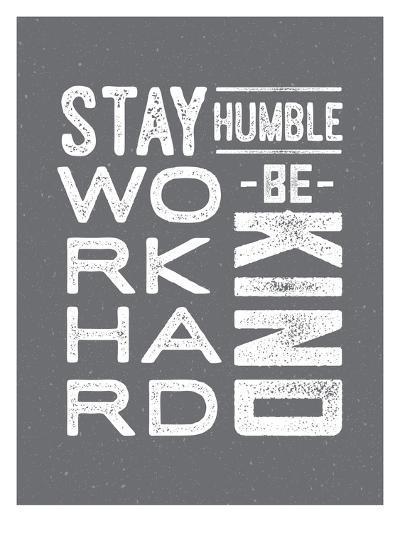 Type Humble and Kind-Brooke Witt-Art Print