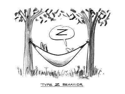 """Type Z Behavior"" - New Yorker Cartoon-Donald Reilly-Premium Giclee Print"