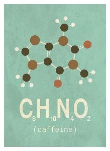 Molecule Caffeine by TypeLike