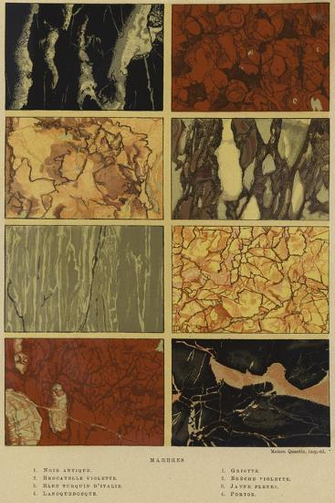 Types of Marble--Giclee Print