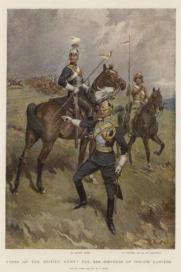 Types of the British Army, the 21st (Empress of India's) Lancers-William T^ Maud-Giclee Print