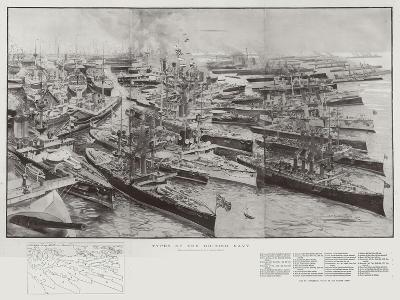 Types of the British Navy-Henry Charles Seppings Wright-Giclee Print