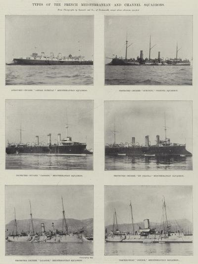 Types of the French Mediterranean and Channel Squadrons--Giclee Print