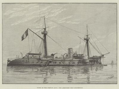 Types of the French Navy, the Armoured Ship Duguesclin--Giclee Print