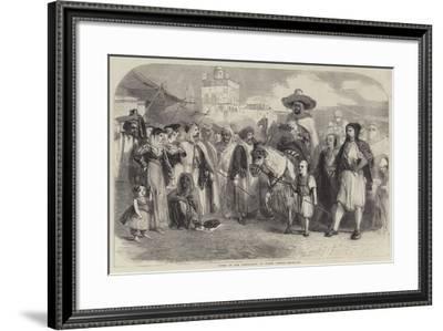 "Types of the Population of North Africa-Matthew ""matt"" Somerville Morgan-Framed Giclee Print"