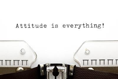 Typewriter Attitude Is Everything-Ivelin Radkov-Art Print