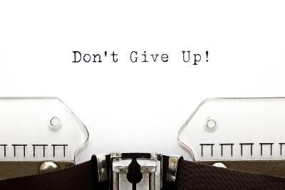 Typewriter Do Not Give Up-Ivelin Radkov-Art Print