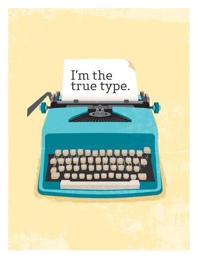 Typewriter-Patricia Pino-Art Print