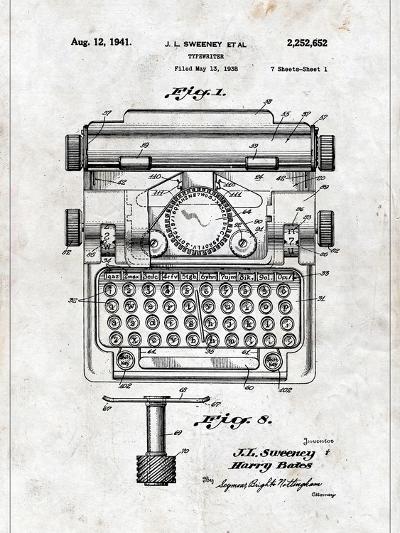 Typewriter-Patent-Art Print