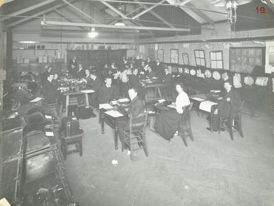 Typewriting Examination Class, Queens Road Evening Institute, London, 1908--Photographic Print